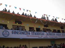The annual function of the Ananda Marga School in Haridwar
