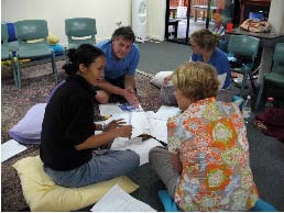 Maleny, Australia, Working in groups 02