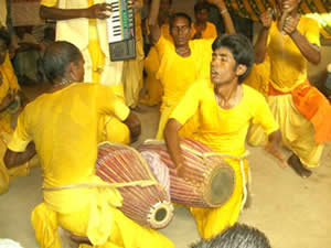 The Mahato Kirtan group of Bagra
